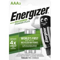 Energizer Power Plus HR03 AAA battery (rechargeable) NiMH 700 mAh 1.2 V 2 pc(s)