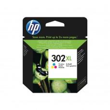 HP 302XL Original Ink Cartridge - Cyan, Magenta, Yellow - Inkjet - High Yield - 1 / Pack