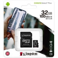 Kingston Canvas Select Plus 32 GB Class 10/UHS-I (U1) microSDHC - 100 MB/s Read