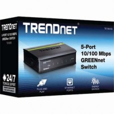 TRENDnet TE100-S5 5 Ports Ethernet Switch - 2 Layer Supported - 5 Year Limited Warranty